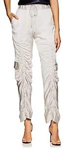 MANNING CARTELL Women's Off Duty Ruched Tech-Satin Cargo Pants - Silver