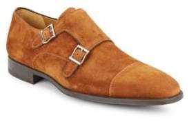 Suede Monk Strap Shoes