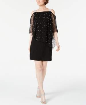 MSK Rhinestone Overlay Dress