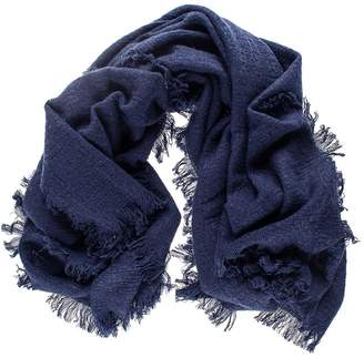 Black Oversize Midnight Navy Square Cashmere Shawl