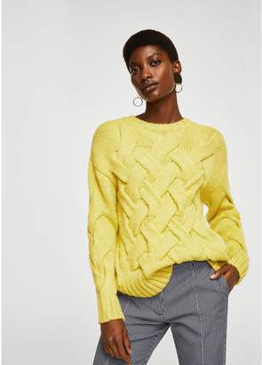 MANGO Knitted Braided Jumper