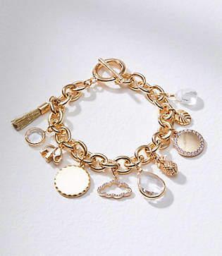 LOFT Crystal Stone Charm Bracelet