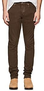 Tom Ford MEN'S STRETCH-COTTON SLIM PANTS-BROWN SIZE 28