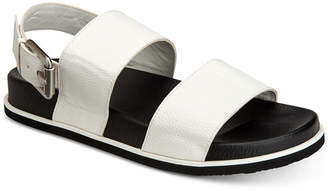 Calvin Klein Men's Magnum Smooth Tumbled Leather Sandals Men's Shoes