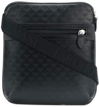 9d085edf2ec9 Emporio Armani Leather Messenger Bag