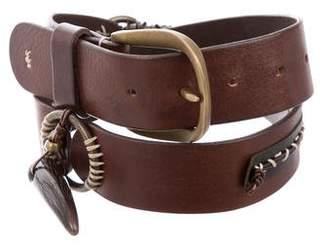 Henry Beguelin Woven Leather Belt