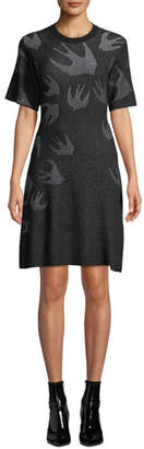 McQ Swallow Pointelle Sweater Dress