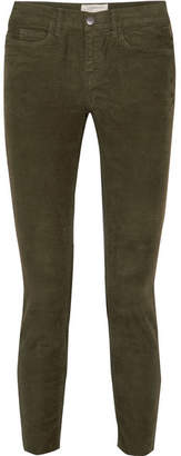 Current/Elliott The Stiletto Corduroy Skinny Pants - Green