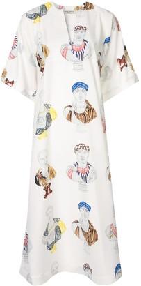 Tata-Naka Tata Naka printed kaftan dress