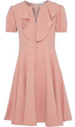 RED Valentino Ruffle-trimmed Crepe Mini Dress