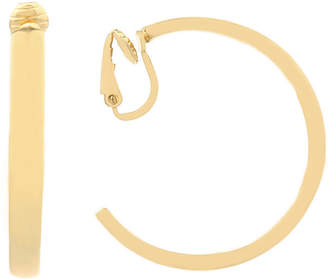 Liz Claiborne Goldtone Large Hoop Clip On Earrings