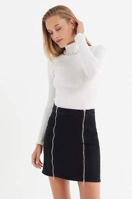 A Gold E AGOLDE Pamela Double-Zip Mini Skirt