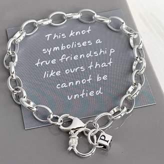 9cd7d17412c Helle Handmade by Personalised Silver Friendship Bracelet