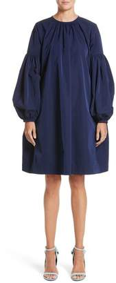 Calvin Klein Ruched Sleeve Taffeta Dress