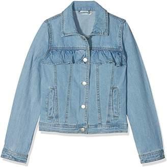 Name It Girl's Nkftea DNM Jacket 1004 Noos Light Blue Denim, 134