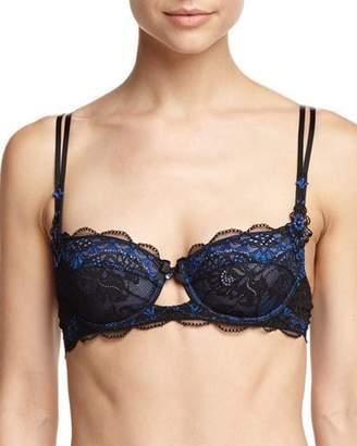 Lise Charmel Dentelle Sapphire Demi-Cup Bra, Black/Blue