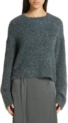 Vince Boxy Metallic Knit Sweater