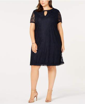 ECI Plus Size Lace Shift Dress