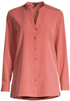 Eileen Fisher Collared Button-Down Blouse