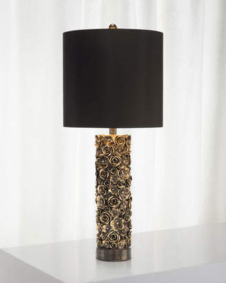 Neiman marcus john richard collection distressed bloom table lamp