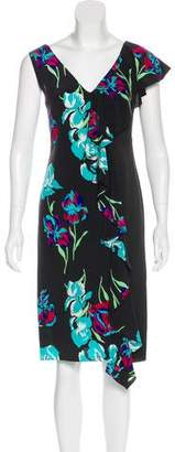 Diane von Furstenberg Silk Printed Dress w/ Tags