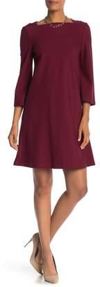 Lafayette 148 New York Square Neck Shift Dress