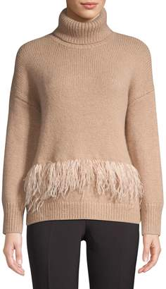 Kate Spade Madison Avenue Feather-Trim Sweater