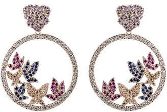 Eye Candy Los Angeles Eye Candy La 18K Gold Plated Cz Crystal Butterfly Earrings