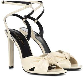 Saint Laurent Amy patent leather sandals