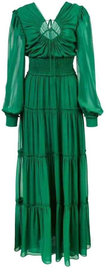 Crepe Chiffon Keyhole Dress