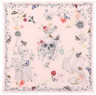 Alexander McQueen Wool-blend printed scarf