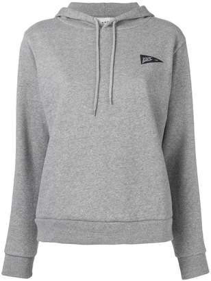 A.P.C. triangle logo print hoodie