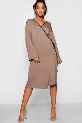boohoo Naomi Maxi Wrap Kimono