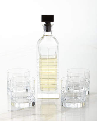 Kosta Boda Orrefors Street Decanter and Four Double Old-Fashioneds