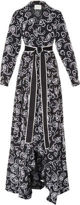 Alexis Ladda Tie Waist Paisley Dress