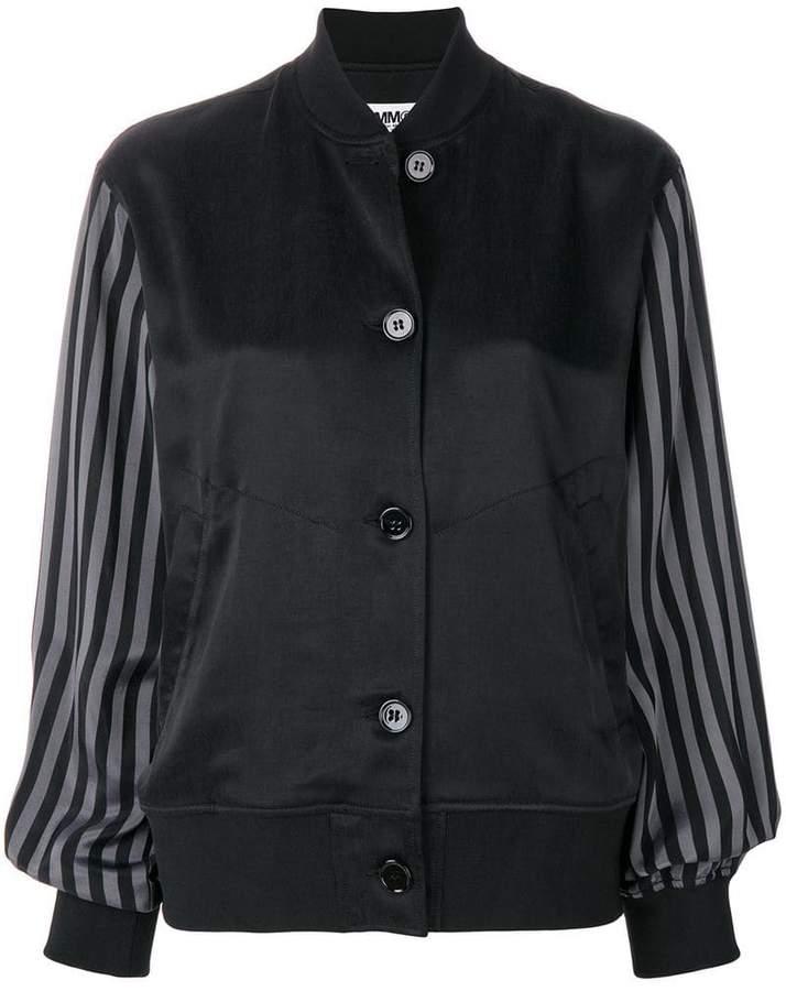 striped sleeves jacket
