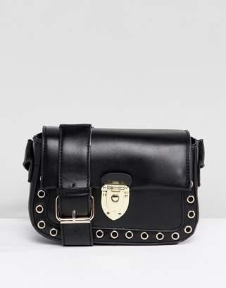 Yoki Fashion Cross Body Bag with Clasp Closure