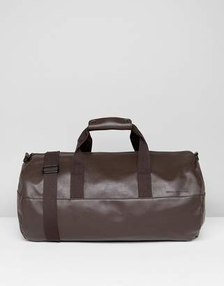 French Connection Soft Barrell Bag In Brown