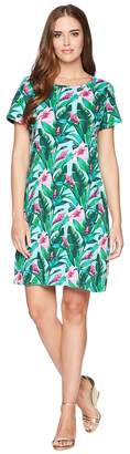 Tommy Bahama Tulum Blooms Short Sleeve T-Shirt Dress Women's Dress