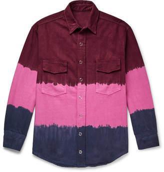 The Elder Statesman Tie-Dyed Denim Overshirt - Men - Pink
