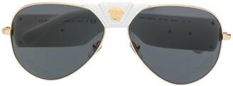 Versace Eyewear Medusa aviator sunglasses