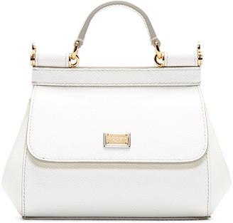 Dolce & Gabbana White Mini Miss Sicily Bag $995 thestylecure.com