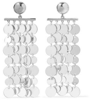 Oscar de la Renta Silver-tone Clip Earrings