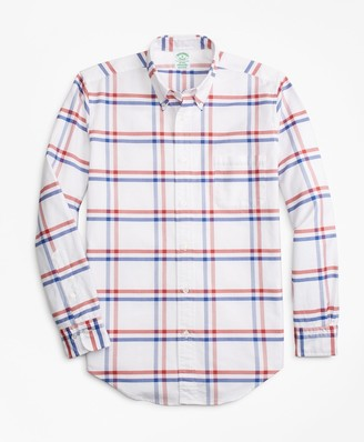 Brooks Brothers Milano Fit Oxford Windowpane Sport Shirt