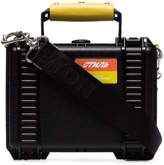 8d511edb4a90 Heron Preston black acrylic industrial tool bag