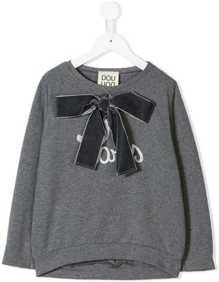 Douuod Kids bow detail top