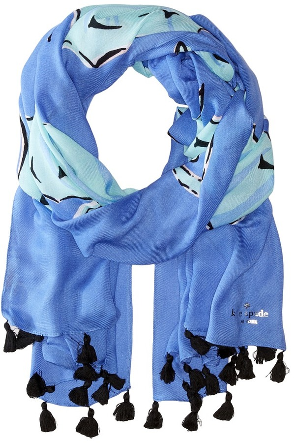 Kate Spade Kate Spade New York - Seahorse Oblong Scarf Scarves