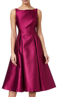 Adrianna Papell Sleeveless Tea Length Dress, Red Plum