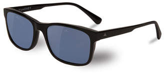 Vuarnet District Medium Rectangular Sunglasses, Black