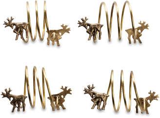 Nkuku Napkin Rings - Set of 4 - Stag